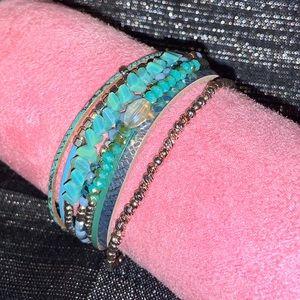 NWOT Blue Magnetic Wrap Bracelet